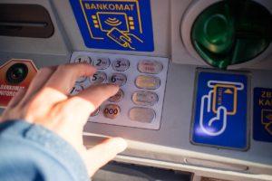 קורא כרטיסים מגנטי של הבנק